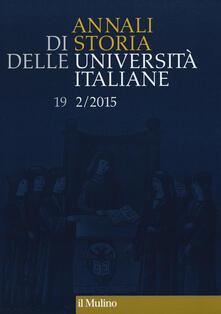 Annali di storia delle università italiane (2015). Vol. 2 - copertina