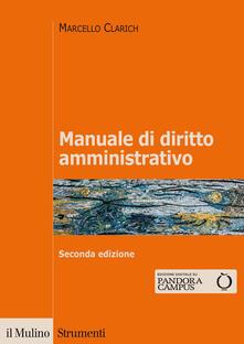 Manuale di diritto amministrativo - Marcello Clarich - copertina