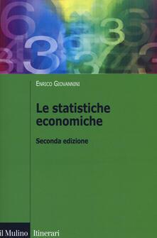 Le statistiche economiche - Enrico Giovannini - copertina