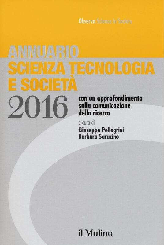 Annuario scienza tecnologia e società (2016) - copertina
