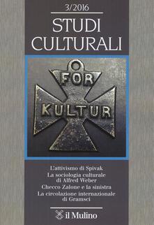 Studi culturali (2016). Vol. 3 - copertina