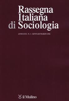 Rassegna italiana di sociologia (2016). Vol. 1 - copertina