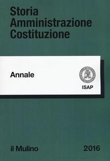 Storia amministrazione Costituzione. Annali. Vol. 24 - copertina