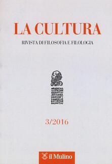 Partyperilperu.it La cultura. Rivista di filosofia e filologia (2016). Vol. 3 Image