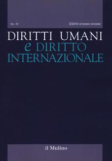 Diritti umani e diritto internazionale (2016). Vol. 3 - copertina