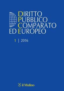 Diritto pubblico comparato europeo (2016). Vol. 1 - copertina