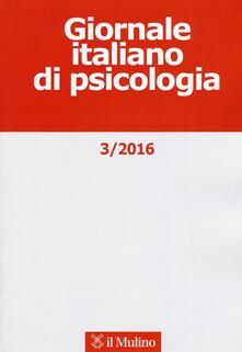 Giornale italiano di psicologia (2016). Vol. 3 - copertina