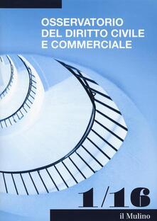 Osservatorio del diritto civile e commerciale. Vol. 1 - copertina