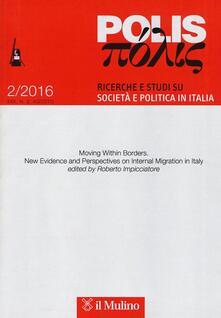 Polis. Ricerche e studi su società e politica in Italia (2016). Vol. 2 - copertina