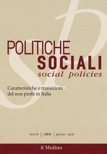 Festivalpatudocanario.es Politiche sociali (2016). Vol. 1: Caratteristiche e transizioni del non profit in Italia. Image