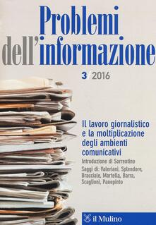 Problemi dell'informazione (2016). Vol. 3 - copertina