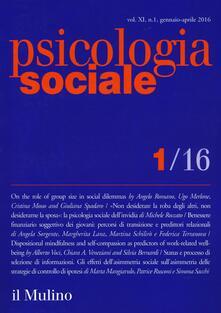 Psicologia sociale (2016). Vol. 1 - copertina