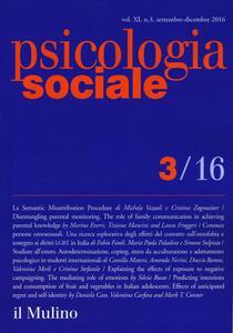 Psicologia sociale (2016). Vol. 3