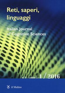Reti, saperi, linguaggi. Vol. 1 - copertina
