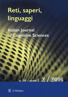 Reti, saperi, linguaggi (2016). Vol. 2 - copertina