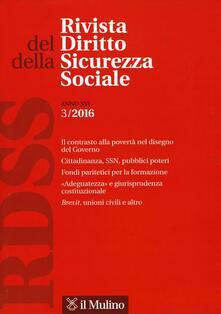 Rivista del diritto della sicurezza sociale. Vol. 3 - copertina