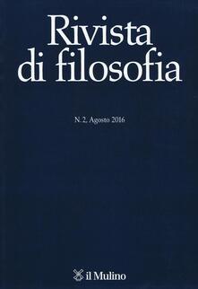 Rivista di filosofia (2016). Vol. 2 - copertina