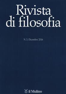 Rivista di filosofia (2016). Vol. 3 - copertina