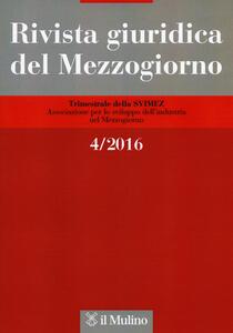 Rivista giuridica del Mezzogiorno (2016). Vol. 4