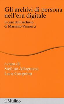Osteriacasadimare.it Gli archivi di persona nell'era digitale. Il caso dell'archivio di Massimo Vannucci Image