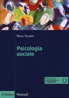 Psicologia sociale - Paola Villano - copertina