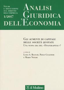 Librisulladiversita.it Analisi giuridica dell'economia (2017). Vol. 1: strumenti di capitale delle società quotate. Una nuova era del «Finanzkapital»?, Gli. Image