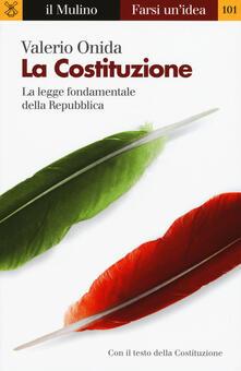 La Costituzione -  Valerio Onida - copertina