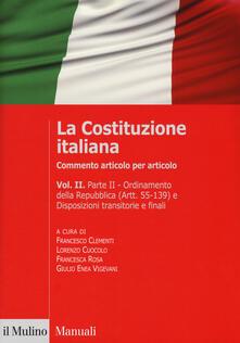 La Costituzione italiana. Commento articolo per articolo. Vol. 2 - copertina