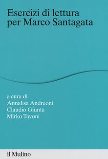Esercizi di lettura per Marco Santagata - copertina