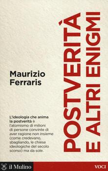 Postverità e altri enigmi - Maurizio Ferraris - copertina