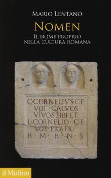 Promoartpalermo.it Nomen. Il nome proprio nella cultura romana Image