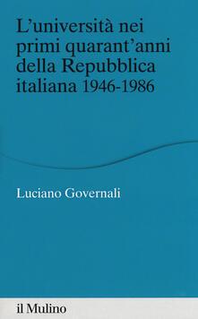 Radiospeed.it L' università nei primi quarant'anni della Repubblica italiana 1946-1986 Image
