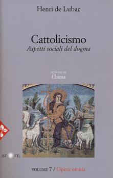 Antondemarirreguera.es Opera omnia. Vol. 7: Cattolicismo. Aspetti sociali del dogma. Chiesa. Image