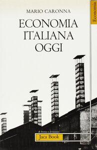 Libro Economia italiana oggi Mario Caronna