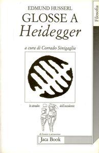 Foto Cover di Glosse a Heidegger, Libro di Edmund Husserl, edito da Jaca Book