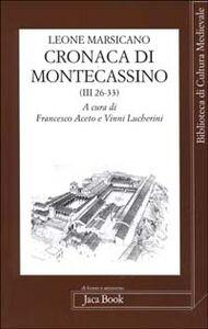 Foto Cover di Cronaca di Montecassino, Libro di Leone Marsicano, edito da Jaca Book