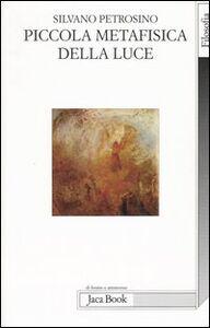 Foto Cover di Piccola metafisica della luce, Libro di Silvano Petrosino, edito da Jaca Book