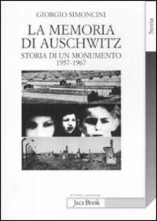 Librisulrazzismo.it La memoria di Auschwitz. Storia di un monumento 1957-1967 Image