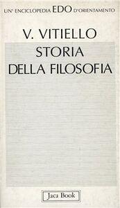 Libro Storia della filosofia Vincenzo Vitiello