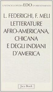 Letterature afro-americana, chicana e degli indiani d'America