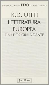 Letteratura europea dalle origini a Dante