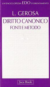Diritto canonico. Fonti e metodo
