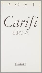 Foto Cover di Europa, Libro di Roberto Carifi, edito da Jaca Book