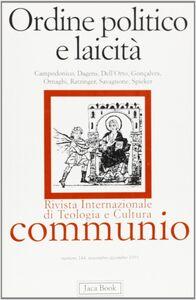 Libro Ordine politico e laicità