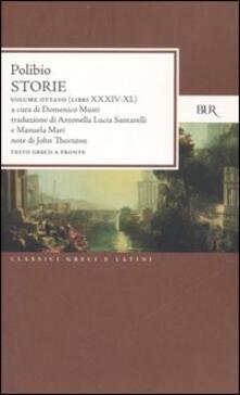 Winniearcher.com Storie. Testo greco a fronte. Vol. 8: Libri XXXIV-XL. Image