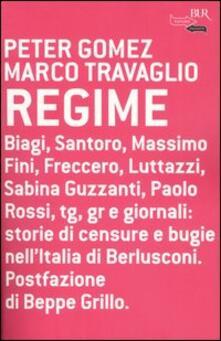 Regime - Marco Travaglio,Peter Gomez - copertina