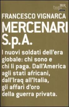 Mercenari S.p.A - Francesco Vignarca - copertina