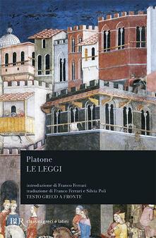 Le leggi. Testo greco a fronte - Platone - copertina