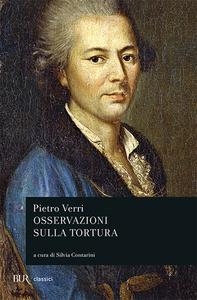 Libro Osservazioni sulla tortura Pietro Verri