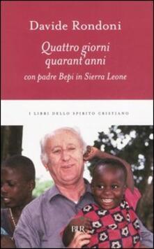 Daddyswing.es Quattro giorni, quarant'anni con padre Bepi in Sierra Leone Image